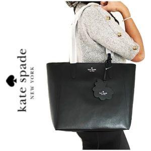 NWT Kate Spade Saffiano leather zip tote black